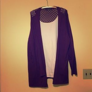 Open faced cardigan